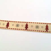 Christmas Tree Ribbon Cream
